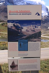 Columbia Icefield Interpretive Sign, Icefields Parkway, Alberta,Canada (Black Diamond Images) Tags: athabascaglacier columbiaicefield jaspernationalpark glacier icefieldsparkway alberta canada scenictours scenic 2012 mountains mountain ice banfftojasper landscape sky snow mountainside travelalberta albertatravel albertaholiday holidayalberta
