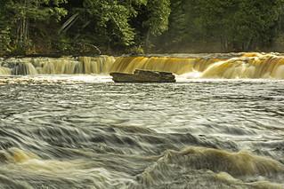 Lower Falls of thew Tahquamenon River, Michigan