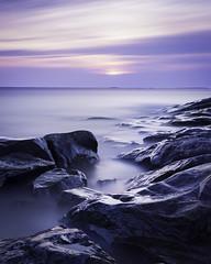 Cold Sunset (Mikko Manner) Tags: nikond7200 sigma1835mmf18art longexposure sunset wetrocks granite shore smoothwater cloudysunset nature porkkalanniemi