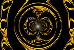 Kaleïd'Or (Emmanuelle Baudry - Em'Art) Tags: art artwork abstract abstrait digitalart dream dark fractal or gold bijou jewel lumière light space sf sciencefiction scifi spiritualité spirituality spacetime spiral vision vortex emmanuellebaudry emart