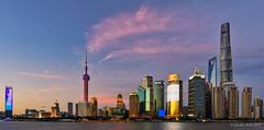 Shanghai sunset (NettyA) Tags: asia china lujiazuiskyline pudongskyline river shanghai thehuángpǔ buildings city clouds skyline sunset travel