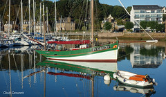 Perros-Guirec (claude 22) Tags: perrosguirec port harbour bretagne brittany breizh mer sea reflest reflections blue water eau salée bateau boat colors couleurs france littoral