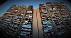 Honeycomb Alicante (roomman) Tags: 2018 spain alicante city town street art design high rise highrise skyscraper residential honey cmbe cmob hineycomb honeycombe architecture facade huge big windows building 1970 1970s 70 70s