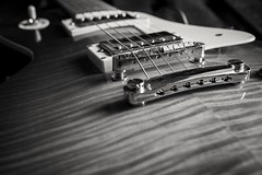 Flamed Top (gabrielromeroplana) Tags: guitar guitarra lespaul epiphone flamed top rock music blanco negro black white bn bw monochromatic sony a6000 sigma 30mm 14