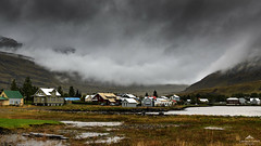 A home for artists. (lawrencecornell25) Tags: landscape iceland icelandictown seydisfjordur easterniceland smalltown cloudy raining valley mountains nikond850