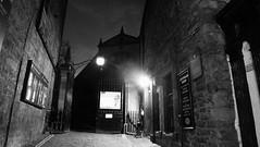 Greyfriars on a winter's evening 01 (byronv2) Tags: edinburgh edimbourg edinburghbynight night nuit dusk bluehour oldtown scotland architecture building church kirk history greyfriars greyfriarskirkyard gothic creepy spooky graveyard kirkyard cemetery boneyard