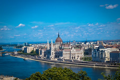 Budapest Hungary skyline was beautiful.