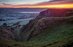 Sunrise at Winnats Pass (kieran_metcalfe) Tags: view sunrise nature dawn derbyshire heights peakdistrict longexposure countryside winnatspass cloud colourful mist landscape edge cliff sky
