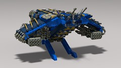 V14 vulture homing gunship (v2) (demitriusgaouette9991) Tags: lego military army ldd armored powerful vtol aircraft deadly transport missile landing cockpit