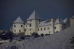 Varaždin in wintery night (davormalnar) Tags: varaždin croatia winter oldtown oldcity old castle snow dark night blue
