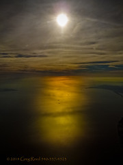 Morning on the Delaware Bay 2013 (Greg Reed 54) Tags: delaware delawarebay flight aerial aviation morning cloud clouds bay water sea ocean ship ships boat boats orange