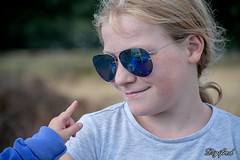 Hey, that's me. (Digifred.nl) Tags: digifred 2018 nikond500 nederland netherlands holland sunglasses reflection zonnebril spiegeling reflectie meisje girl portrait portret