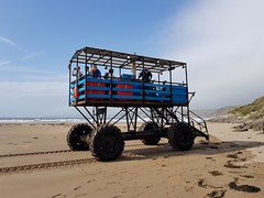 2018 0918 420 (SGS8+) Bigbury-on-Sea; the Sea Tractor returning from Burgh Island (Lucy Melford) Tags: samsunggalaxys8 bigburyonsea burgh island sea tractor