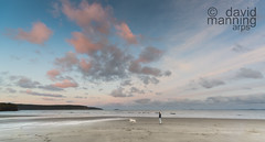 Early birds (David J Manning) Tags: beach dog walker dawn sky clouds sand sea broadhaven pembrokeshire wales