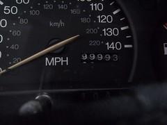 Round the Clock,1 (doojohn701) Tags: dial speedometer millage reflection car ford fiesta dashboard mph sixfigure uk