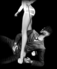 Subdued (Troy Venom) Tags: slink deadwool legs stiletto bw gaeg monochrome expensive bored