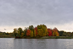 Autumn-colored Island (kanyck (Thanx 4 0.5M views!)) Tags: 1835 d7200 nikon sigma cloudy island water autumn nature sky trees foliage