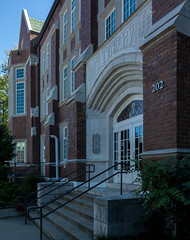 wcowley_Porter_architecture-4 (wctres) Tags: pittsburg state university gorillas kansas college shade brick art department campus old building architecture porter