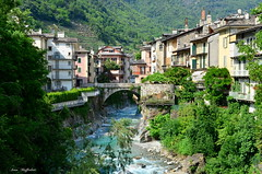 ° Chiavenna (° Ivan) Tags: chiavenna valchiavenna sondrio italy italia lombrady lombardia mountain mountains trees wood bridge stream creek river town village old north