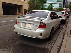 (Can Pac Swire (away for a bit)) Tags: alberta canada canadian city downtown calgary car auto automobile special licence license plate number subaru gingah 2017appleimg1463