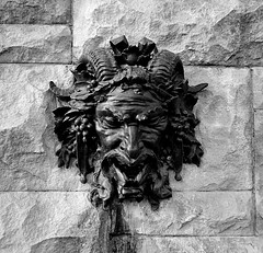 Bacchus (pjpink) Tags: blackandwhite bw monochrome bacchus horned head fountain biltmore biltmoreestate asheville northcarolina nc september 2018 summer pjpink 2catswithcameras