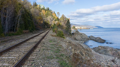 Chemin de fer, La Malbaie, Charlevoix, P.Q., Canada - 8173 (rivai56) Tags: chemindefer lamalbaie charlevoix pq canada rail fleuvesaintlaurent québec ca railway