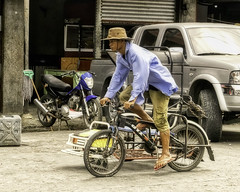 Pedicab (Beegee49) Tags: street rider cycling pedicab public transport bacolod city philippines