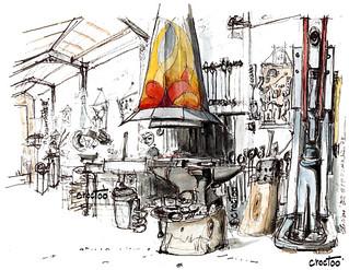 A Ensigné, la forge de Max Quiard