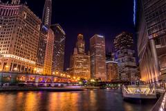 Chicago (dzheraff) Tags: nikon nikond3100 nightcity night chicago city cityscape cityview citylight color architecture america building river reflection