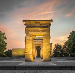 Debod Temple (Ignacio Ferre) Tags: madrid templo sunset puestadesol españa spain arquitectura architecture art arte nikon edificio building heritage patrimonio debodtemple templodedebod egipcio egipto egypt egyptian temple