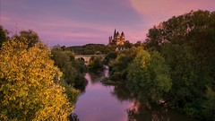 Limburger Dom und die Lahn (Frawolf77) Tags: limburg dom natur nature panorama colors color farbe sunset sonnenuntergang