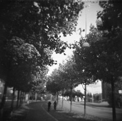Bohusgatan (rotabaga) Tags: sverige sweden svartvitt göteborg gothenburg diana blackandwhite bw bwfp caffenol toycamera tmax400 diy mediumformat mellanformat 120 6x6