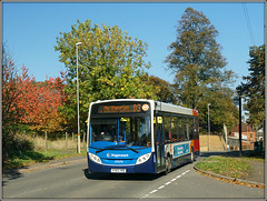 Disorientated D3! (Jason 87030) Tags: flore road village trees autumn aitumnal reds color colour enviro e200 yy63yrs d3 northampton daventry northants northamptonshire sony bus stagecoach midlands 37070