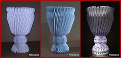 Vase - Cup Origami Knife Pleats (1/3) (NeoSpica / NeoLiveArt) Tags: origami tessellations tessellated tessellatedstructures corrugation corrugated fold folding pleating techniques knife pleats origamiknifepleats accordion pleated vase cup collapsible cylinder paper papercraft artwork craft textile pleatedstructures origamivase lamellarstructures structure box pleat boxpleat design system decor decorative flower complex making art vasecup engineering neospica pleatknifepaper