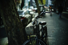 autumn light 2@a corner of Düsseldorf (Amselchen) Tags: bokeh blur dof depthoffield bike bicycle city light sony sonyilce7rm2 canon canon50mmf12ltml39