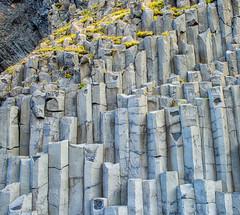 Gardar Basalt Cliffs at Reynisfjara Beach (Near Vik) (JohnColeUSA) Tags: gardarbasaltcliff basaltcolumns rockformations rock iceland reynisfjarabeach vik rockwall basalt cliff wall vertical upright