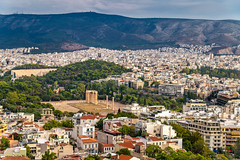 Zeus Temple Ruins (Wolfhowl) Tags: ancient athens building historic old medeival mountains city cityscape acropolis trees summer ellinska attraction ruins travel hellenes greek zeus columns greece 2018 europe temple landscape