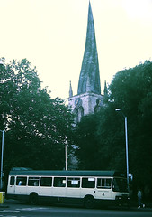 Slide 124-32 (Steve Guess) Tags: chesterfield church spire derbyshire england gb uk leyland national mk2