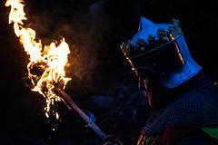 Owain Glyndwr Weekend 2018 (Coed Celyn Photography) Tags: knights knight armour reenactment larp medieval re enact harlech castle north wales gwynedd snowdonia eryri cymru cymraeg living history torch light lit flames fire owain glyndwr