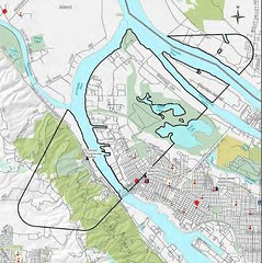 2016. Map showing areas (approximately 8,600 acres) treated with Bacillus thuringiensis kurstaki (Btk) for Asian gypsy moth eradication in north Portland, Oregon. (USDA Forest Service) Tags: usda usfs foresthealthprotection stateandprivateforestry region6 r6 forestservice portland oregon gypsymoth asiangypsymoth spray eradication insect oregondepartmentofforestry odf oregondepartmentofagriculture oda map sprayarea 2016 foresthealthhighlights