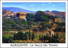 postcard - Agrigento, Italy 4 (Jassy-50) Tags: postcard agrigento sicily italy valleyofthetemples archaeology archeology ancient ruins temple greek roman unescoworldheritagesite unescoworldheritage unesco worldheritagesite worldheritage whs
