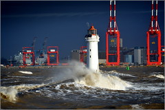 Stormy day at New Brighton Wirral 8th December 2018 (Cassini2008) Tags: wirral newbrighton perchrocklighthouse waves storm rivermersey