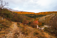 (HimzoIsić) Tags: landscape village countryside trail house hill mountain mountainside tree nature outdoor