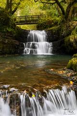 Sychryd Upper Falls (Craig Hollis) Tags: sychryd upper falls waterfalls brecon beacons wales woodland uk landscape leaves streaming bridge trees