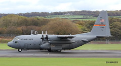 "93-7312 USAF Lockheed C-130H Hercules departing from Prestwick as ""RCH303""  for Powidz Military Air Base (EPPW) Poland. 4/10/18 (BS Images.) Tags: 937312 us usaf illinois ang peoria lockheed lockheedmartin c130 c130h military hercules aircraft airport aviation ayrshire egpk glasgowprestwick prestwick prestwickairport pik southayrshire scotland"