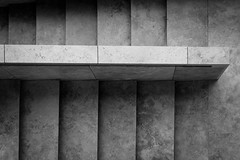 a simple and minimal end to the week / 1-2-3-4-5-6 (Özgür Gürgey) Tags: 2018 24120mm bw beyoğlu d750 nikon yapıkredi abstract architecture marble railing stairs vignette istanbul minimal