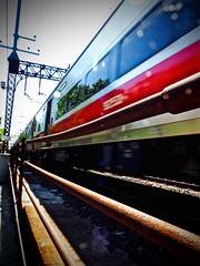 Tracking East (Professor Bop) Tags: professorbop drjazz olympusem1 southportconnecticut railroad railway track rails catenary metronorthcommuterrailroad tracks