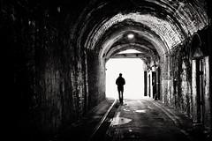 alone (Daz Smith) Tags: dazsmith fujifilmxt3 xt3 fuji bath city streetphotography people candid portrait citylife thecity urban streets uk monochrome blancoynegro blackandwhite mono alone lonely manmwalking tunnel light dark