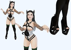 October 18 2018 (Enigma Rae) Tags: lelutka simone maitreya lara mandala tapers cureless spook spookshow dilated hebenon vial medusa moon amore arcano rings reign slayer foxy fallen insanya cursed horns ootd demon hot girl cute me self selfie enigma eniggy outfit daily edit photo photography dazed sporty knee