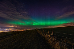 """""""Awaiting You're Return - Irish Aurora"""" (Gareth Wray - 10 Million Views, Thank You) Tags: irelands nightscape photographer vacation holiday europe d810 historic famous rural landmark tourist visit tourism seascape irish fence wild atlantic northern lights gareth wray photography strabane uk night stars galaxy aurora colourful colours 2016 mothers day road way ireland pillars light borealis 1424mm milkyway milky sky sunset outdoor town lifford donegal eve footbridge mourne solar display show cloud field landscape knockavoe mountain hill hillside side artic pole winds evish gate cattle"""